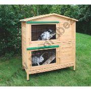 Králíkárna dvouposchoďová APPARTMENT - kotec pro králíky, 118x61x130cm