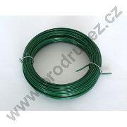 Vázací drát PVC - 50 m - zelený